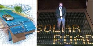 Jalan aspal untuk menghasilkan tenaga listrik melalui energi matahari